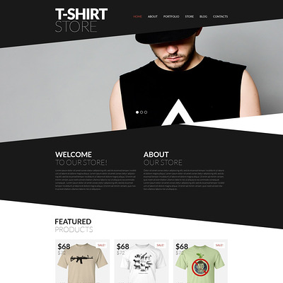 Trendy TShirts WooCommerce Theme (WooCommerce theme for selling clothing for men and women) Item Picture