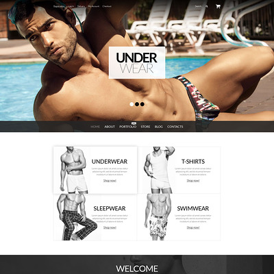 Underwear for Men WooCommerce Theme (WooCommerce theme for selling lingerie and underwear) Item Picture