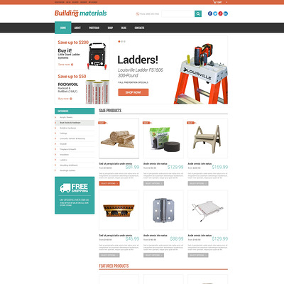 Universal Building Supplies WooCommerce Theme (WooCommerce theme for home improvement and construction supplies) Item Picture