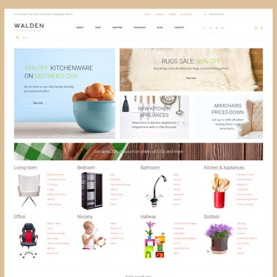 Walden (WooCommerce theme for home decor and interior design stores) Item Picture