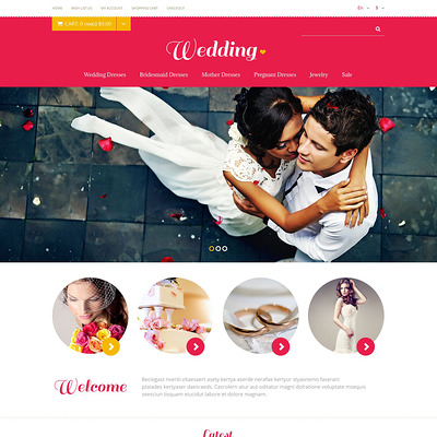 Wedding Store OpenCart Template (OpenCart theme for wedding stores) Item Picture
