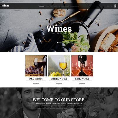 Wine Store OpenCart Template (OpenCart theme for selling liquor, wine, and beer) Item Picture