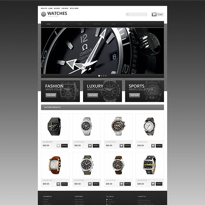 Wrist Watches WooCommerce Theme (WooCommerce theme for selling jewelry and watches) Item Picture