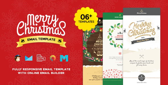 Christmas and New Year Responsive Email Template with Builder (email template) Item Picture