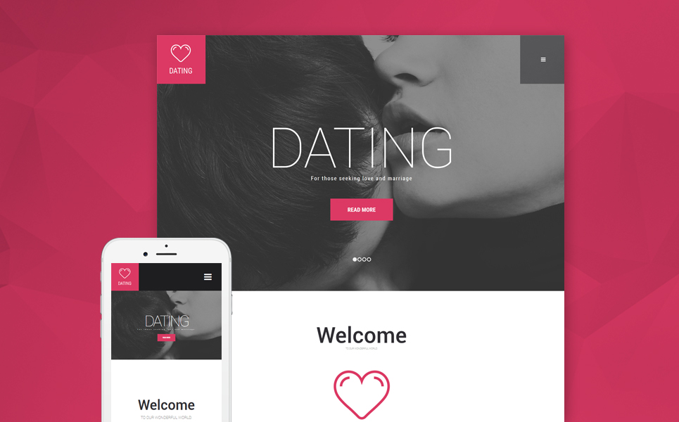 Dating Agency WordPress Theme (WordPress theme) Item Picture