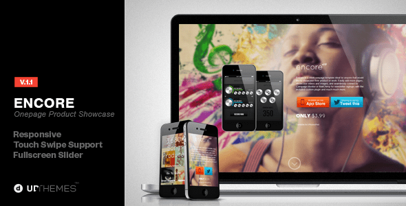 Encore Onepage Product Showcase with Parallax (email template) Item Picture