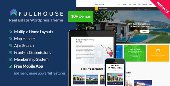 FullHouse (real-estate WordPress theme) Item Picture