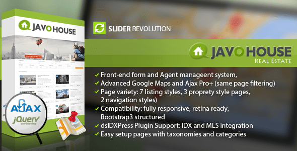Javo House (real-estate WordPress theme) Item Picture