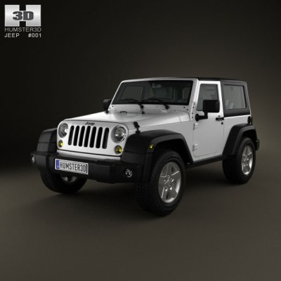 Jeep Wrangler Rubicon Hardtop 2010 (3D model of a car, vehicle, or automobile) Item Picture