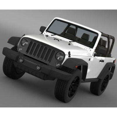 Jeep Wrangler Willys 2014 (3D model of a car, vehicle, or automobile) Item Picture