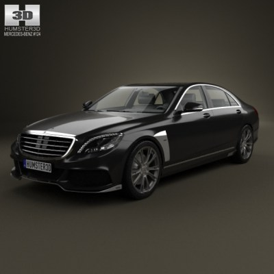Mercedes-Benz S-Class (W222) Brabus 2014 (3D model of a car, vehicle, or automobile) Item Picture
