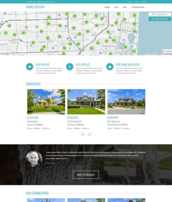 Prime Location (real-estate WordPress theme) Item Picture