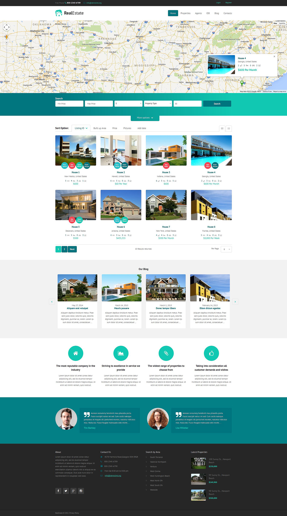 Real Estate Agency Responsive WordPress Theme (real-estate WordPress theme) Item Picture
