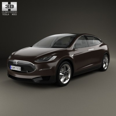Tesla Model X 2014 (3D model of a car, vehicle, or automobile) Item Picture