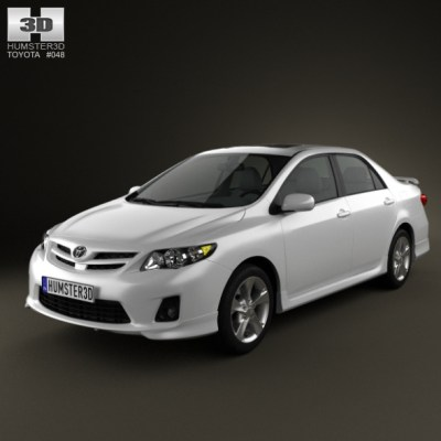 Toyota Corolla 2012 (3D model of a car, vehicle, or automobile) Item Picture
