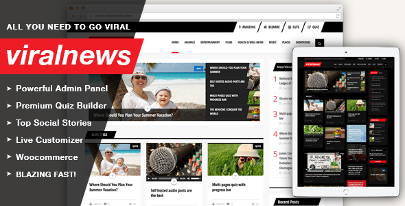 ViralNews (viral WordPress theme with frontend submission) Item Picture