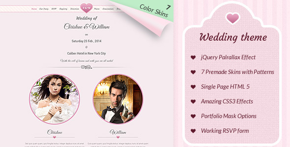 Wedding & Marriage (WordPress theme) Item Picture