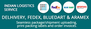 Delhivery, FedEx, Bluedart & Aramex shopify apps for creating invoices receipts shipping labels packing slips