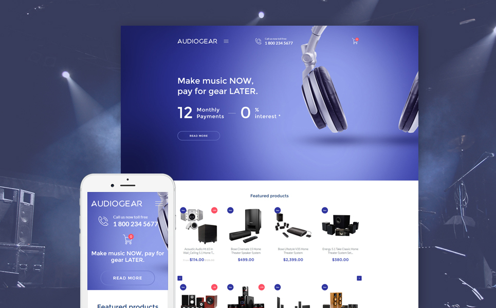 Audio Gear (website template for ecommerce) Item Picture