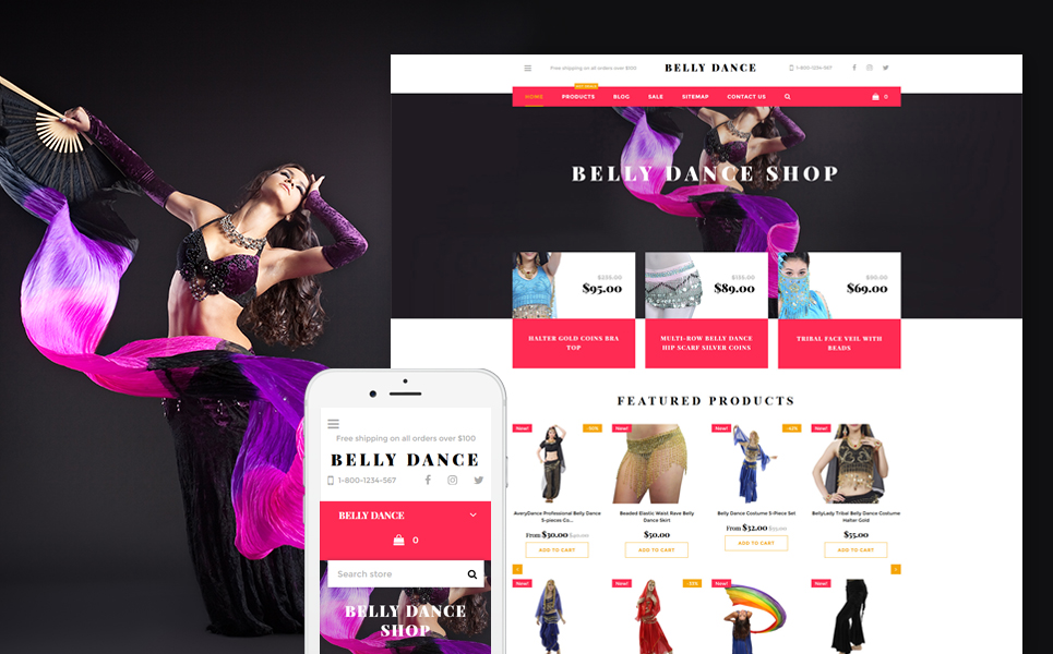 Belly Dance (website template for ecommerce) Item Picture