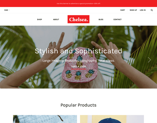 Chelsea (ecommerce theme) Item Picture