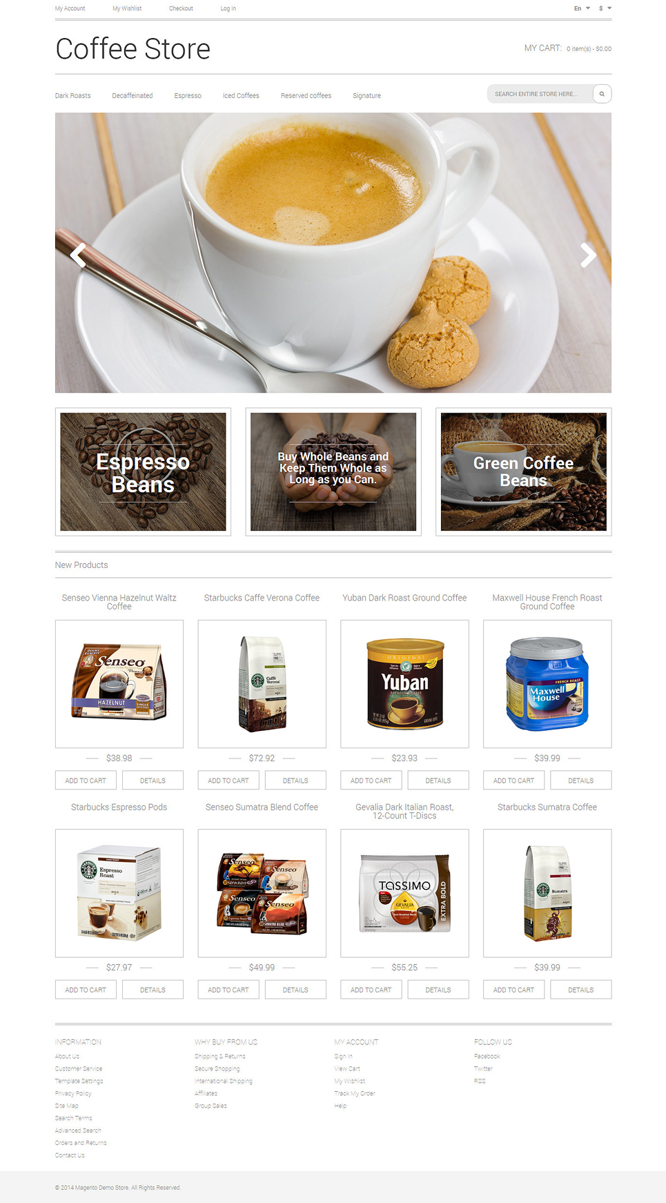 Coffee Aroma Magento Theme (website template for ecommerce) Item Picture