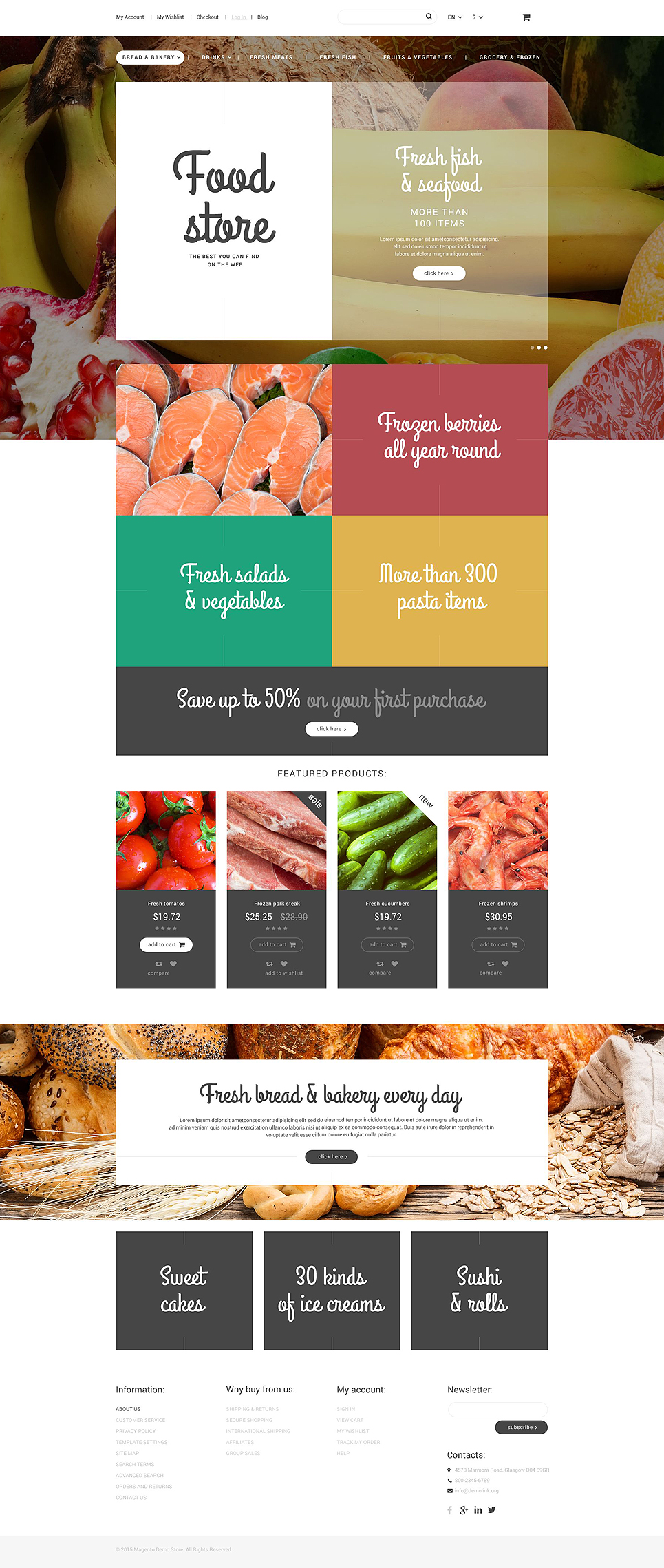 Food Store Magento Theme (website template for ecommerce) Item Picture