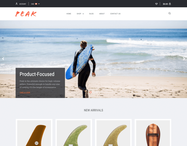 Peak  (ecommerce theme) Item Picture