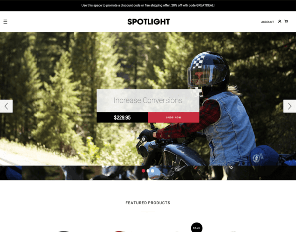Spotlight (ecommerce theme) Item Picture