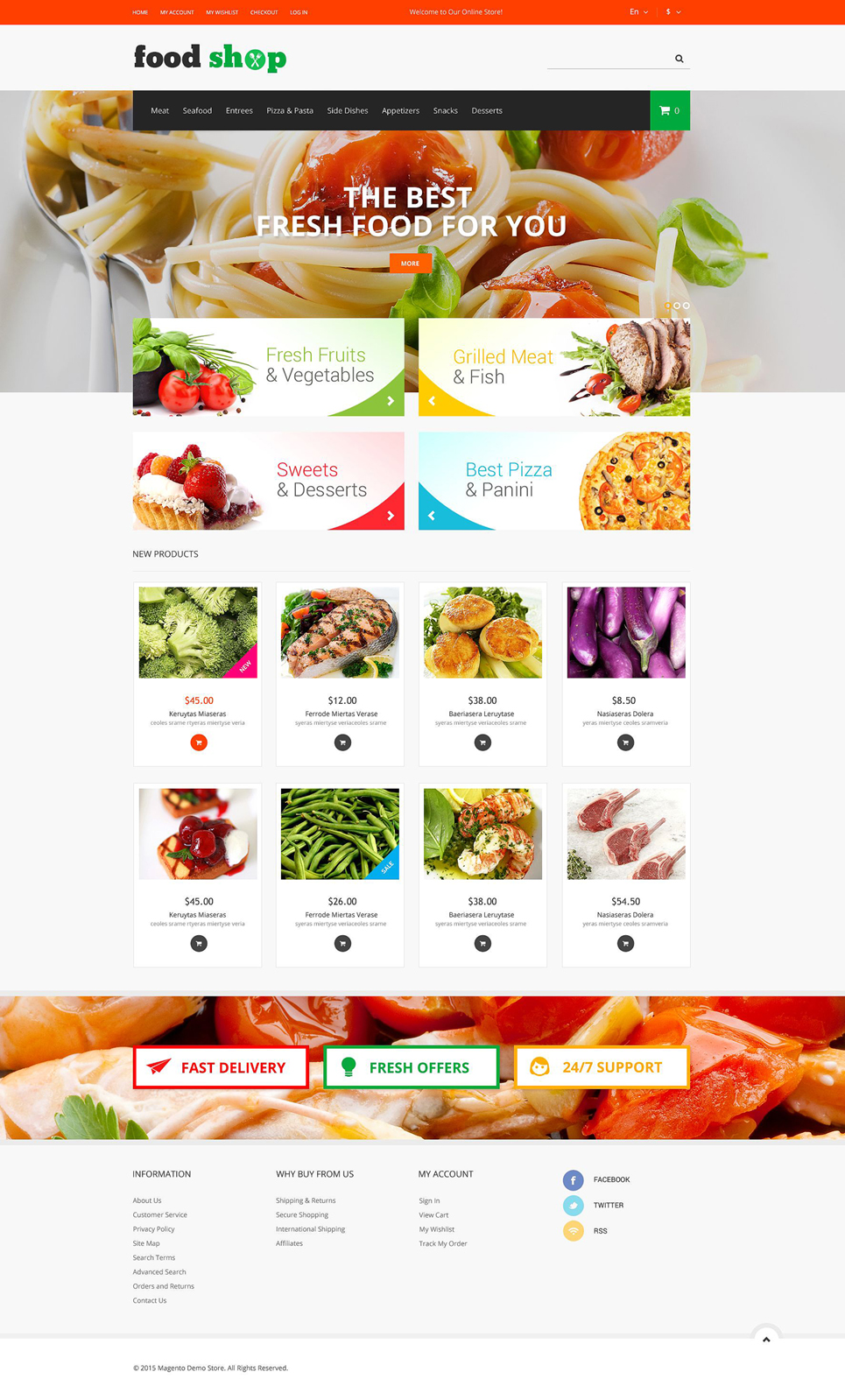 Tasty Shop Magento Theme (website template for ecommerce) Item Picture