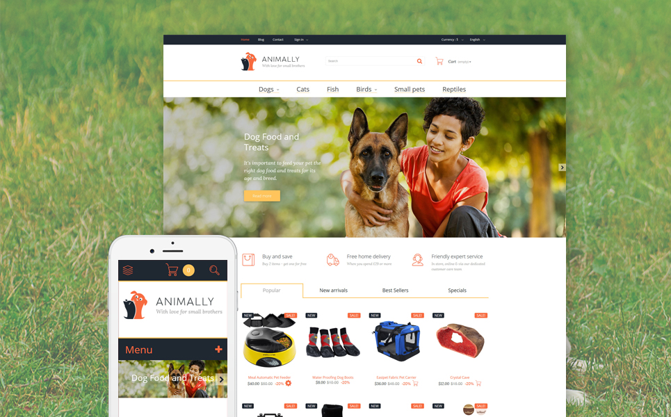 Animally (PrestaShop template) Item Picture