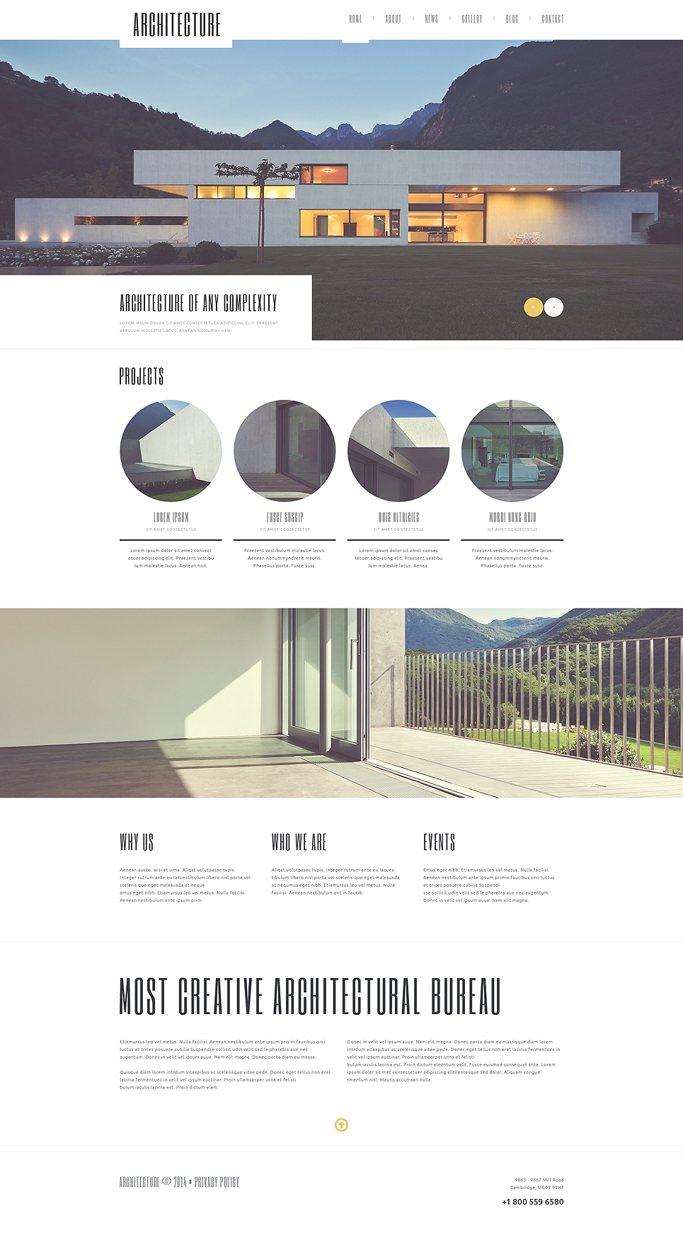Architecture Guru WordPress Theme (WordPress theme for the construction industry) Item Picture