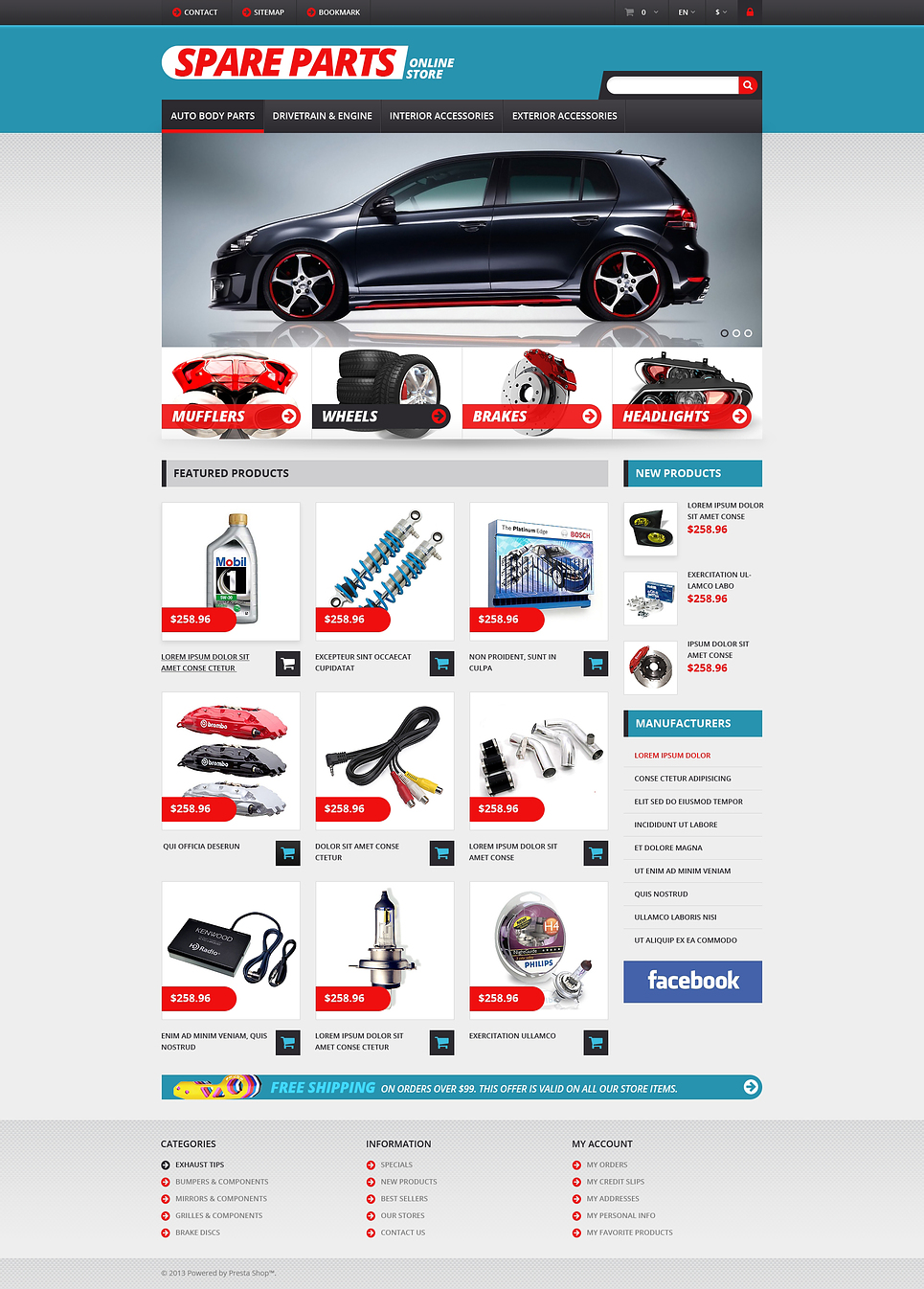 Auto Parts Responsive (PrestaShop theme) Item Picture