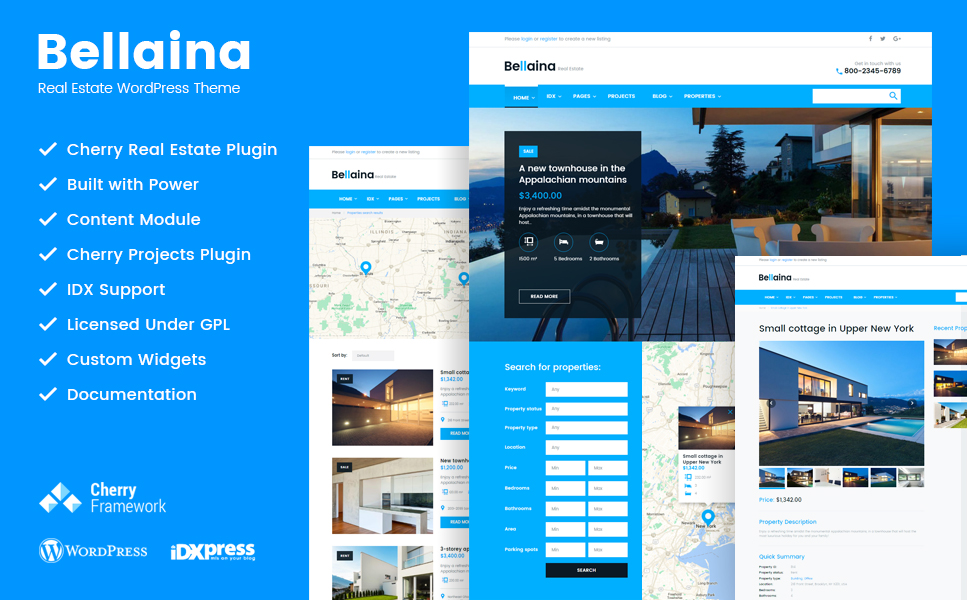 Bellaina (WordPress theme for realtors and real estate agents) Item Picture