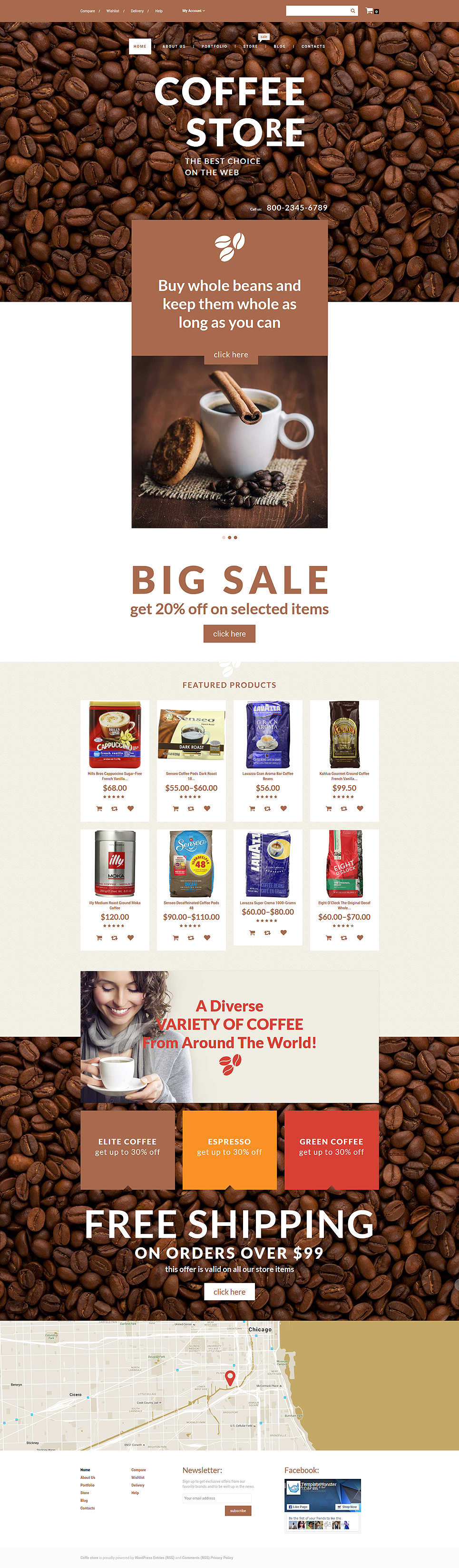 Coffee Store (template for WooCommerce) Item Picture