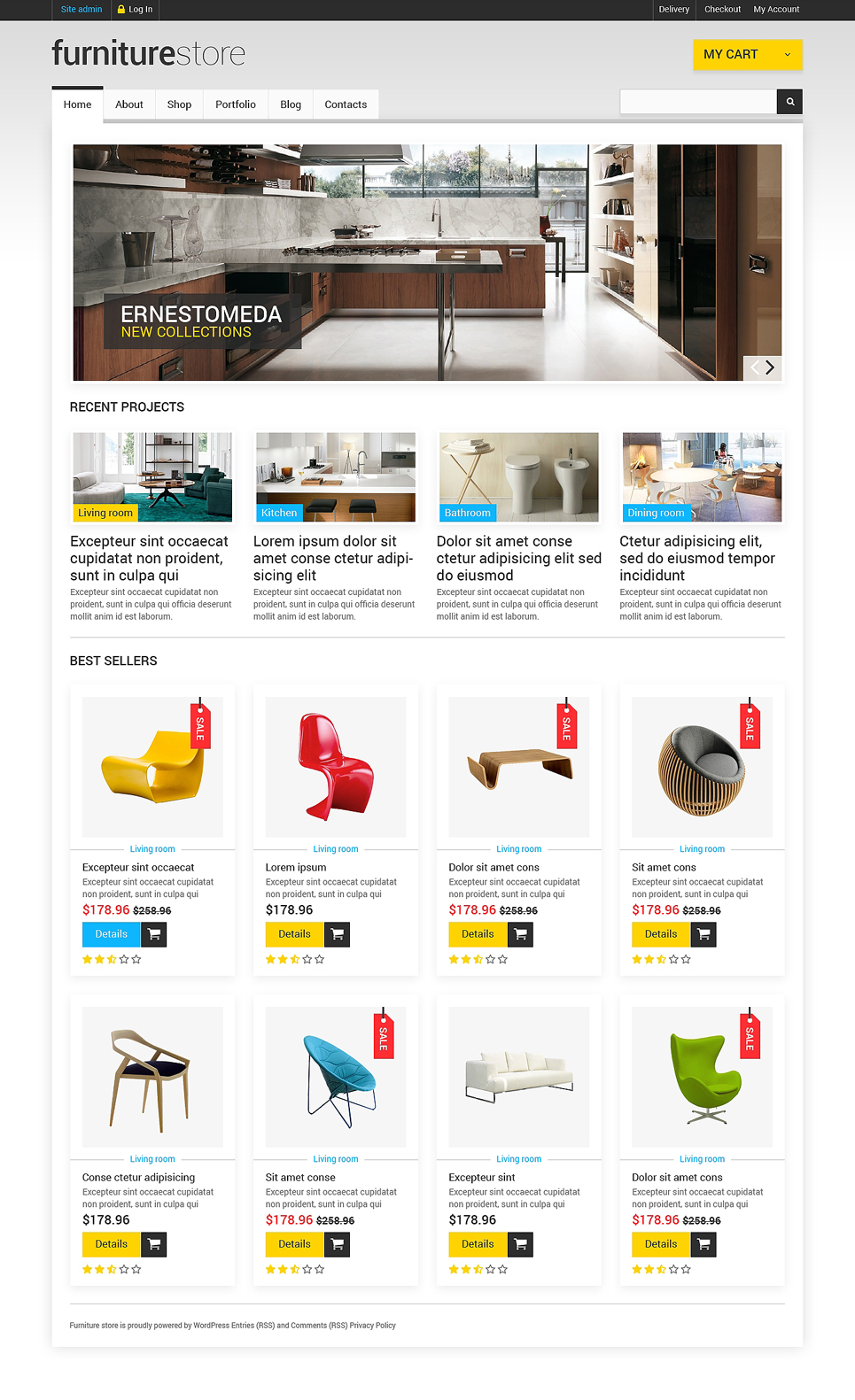 Comfortable Furniture Store (WordPress theme for furniture stores) Item Picture