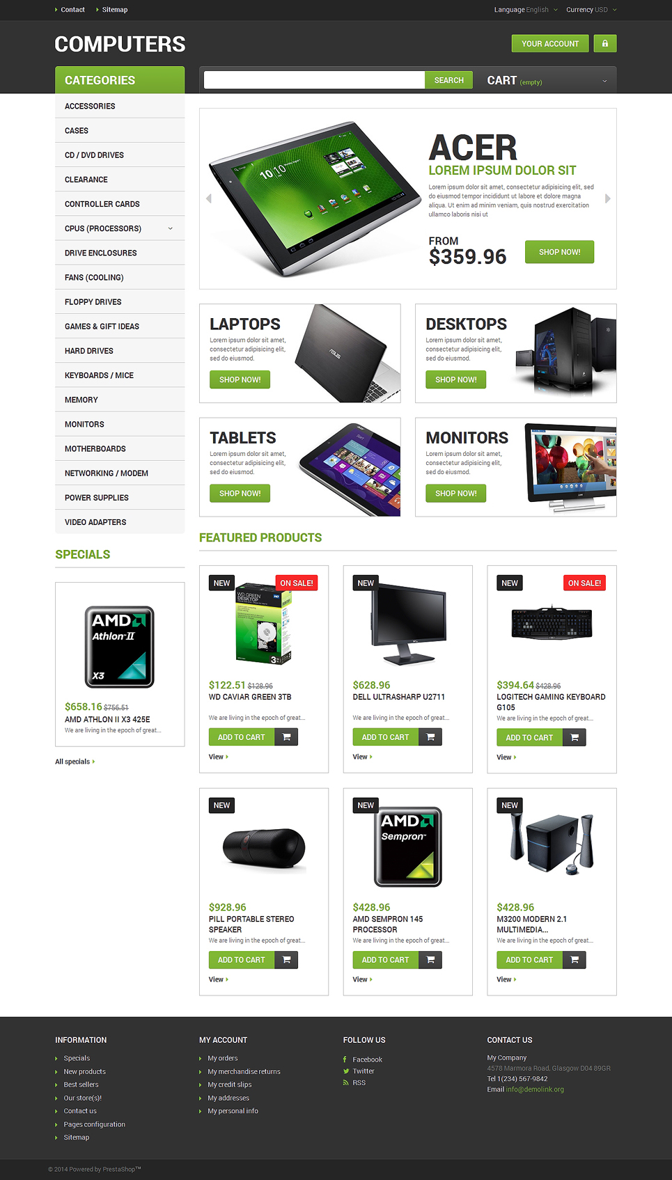 Computer Hardware (template for PrestaShop) Item Picture