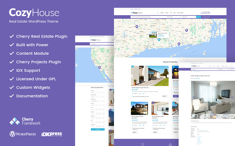 CozyHouse (WordPress theme for realtors and real estate agents) Item Picture