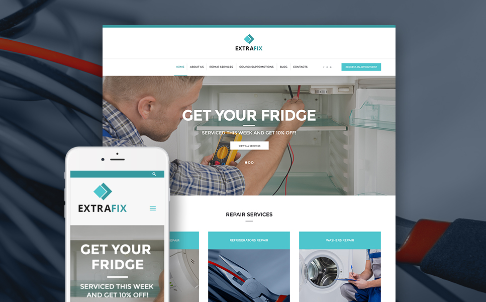 Extrafix (handyman WordPress theme) Item Picture