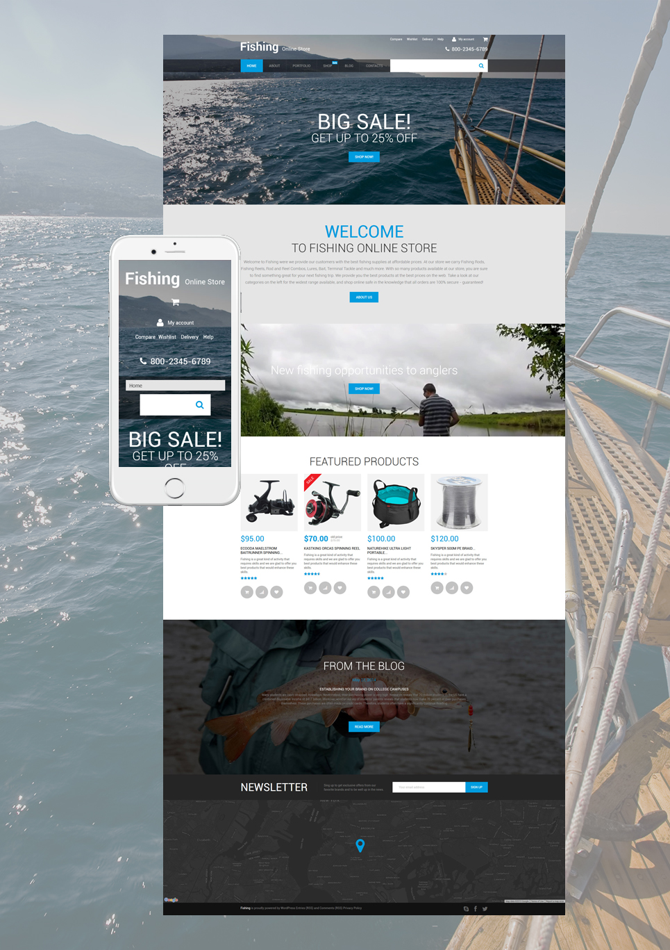 Fishing Online Store (template for WooCommerce) Item Picture