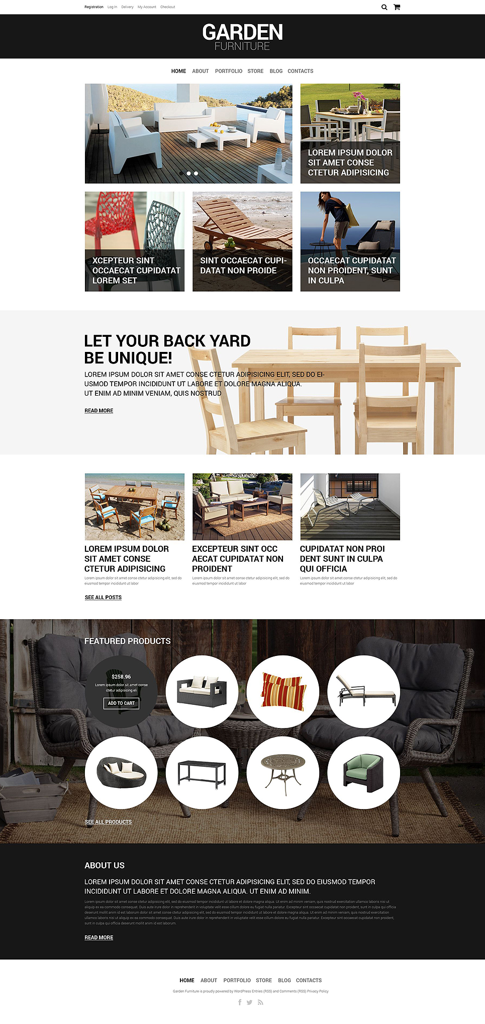 Garden Furniture Store (WordPress theme for furniture stores) Item Picture
