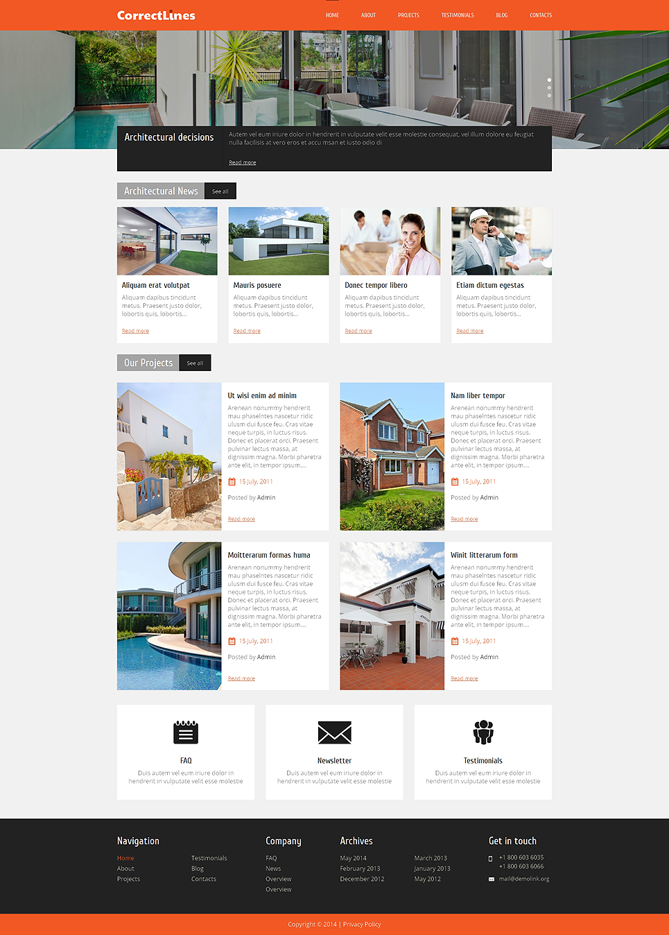Ingenious Architecture WordPress Theme (WordPress theme for the construction industry) Item Picture