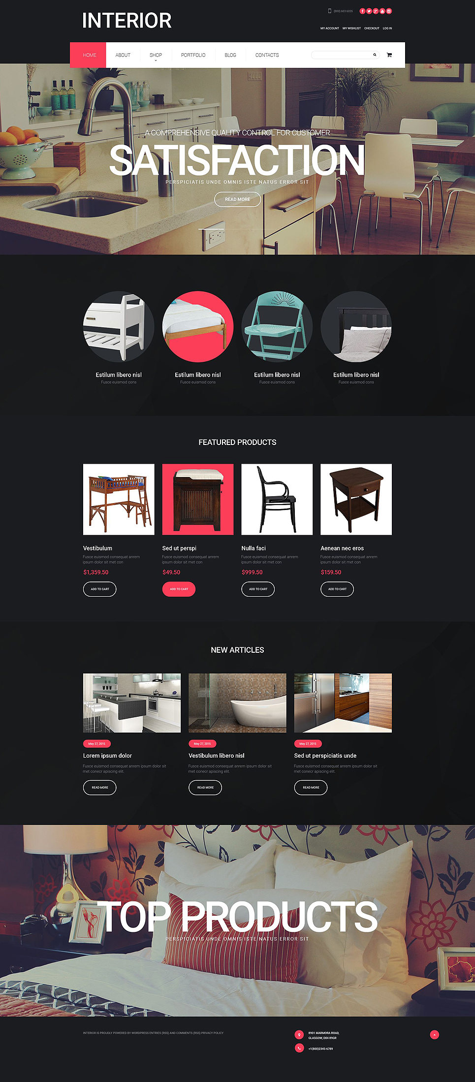 Interior Design (template for WooCommerce) Item Picture