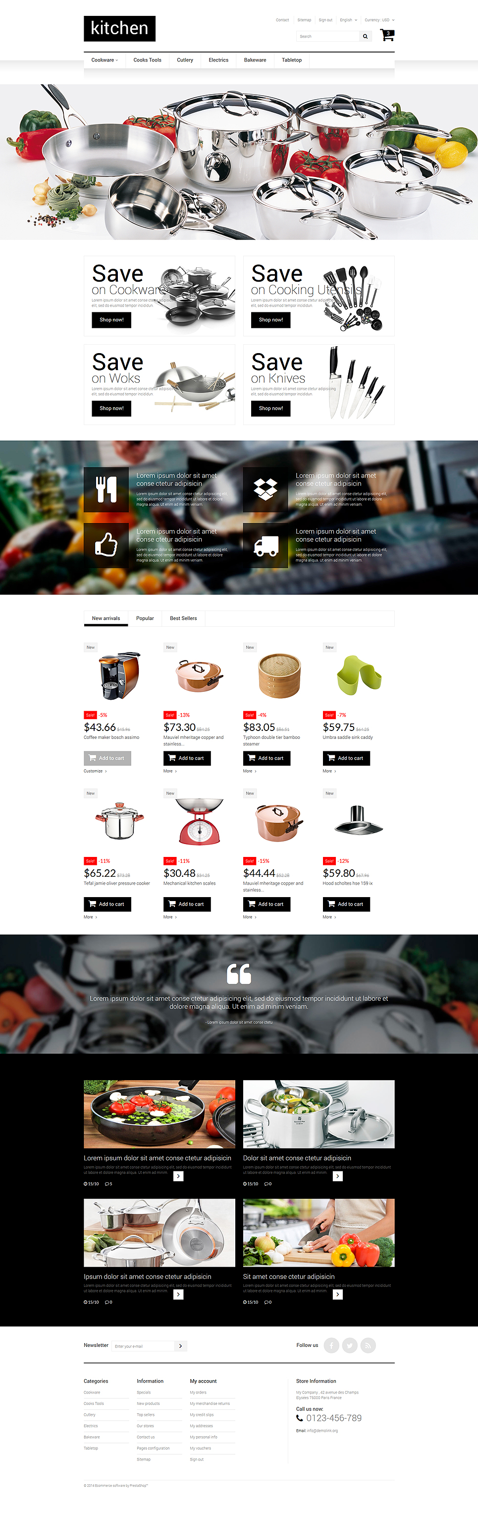 Kitchen Supplies Store (template for PrestaShop) Item Picture