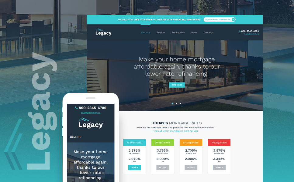 Legacy (WordPress theme for realtors and real estate agents) Item Picture