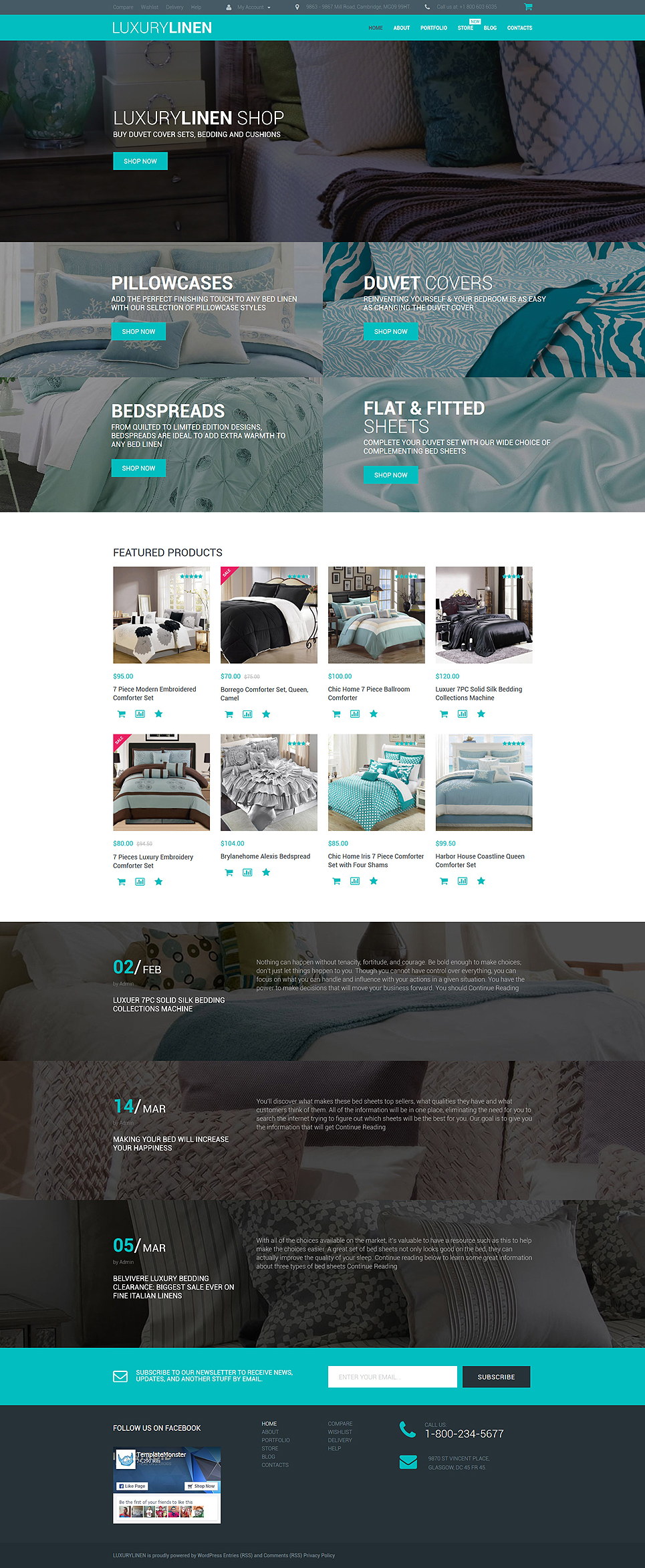 Luxury Linen Store (template for WooCommerce) Item Picture