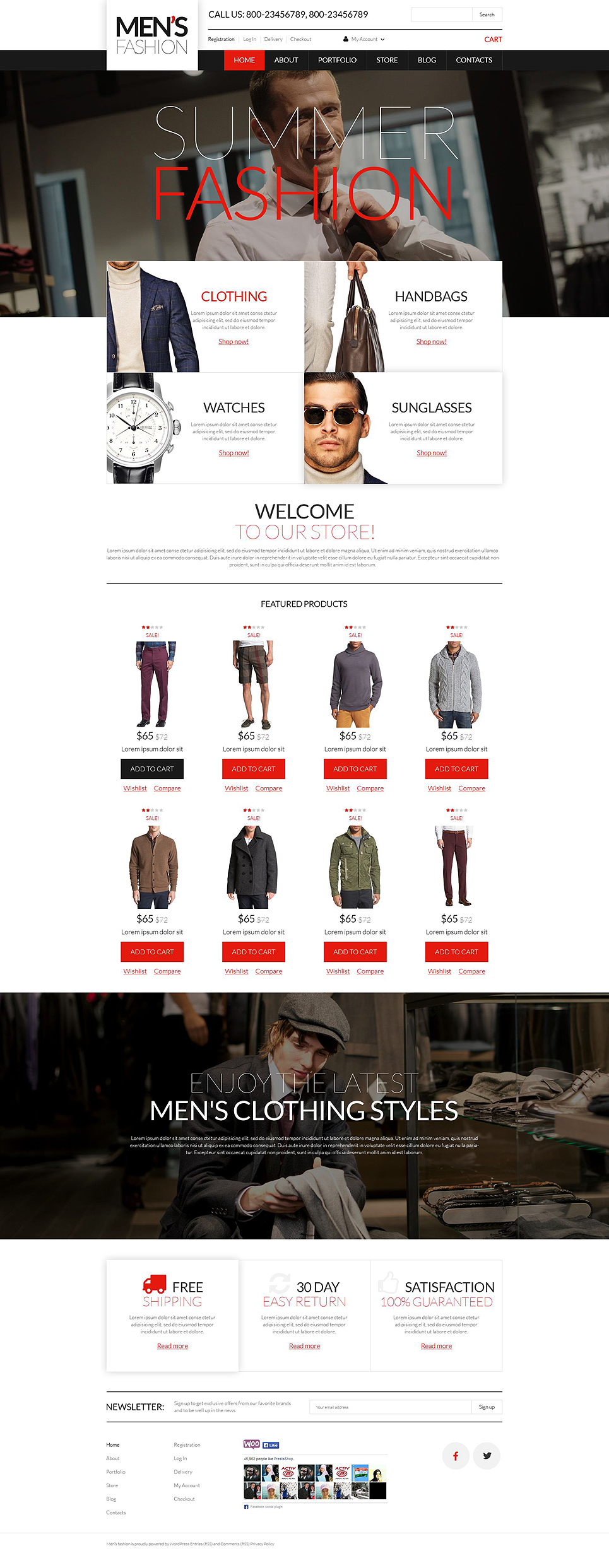 Men's Corporate Wear WooCommerce Theme