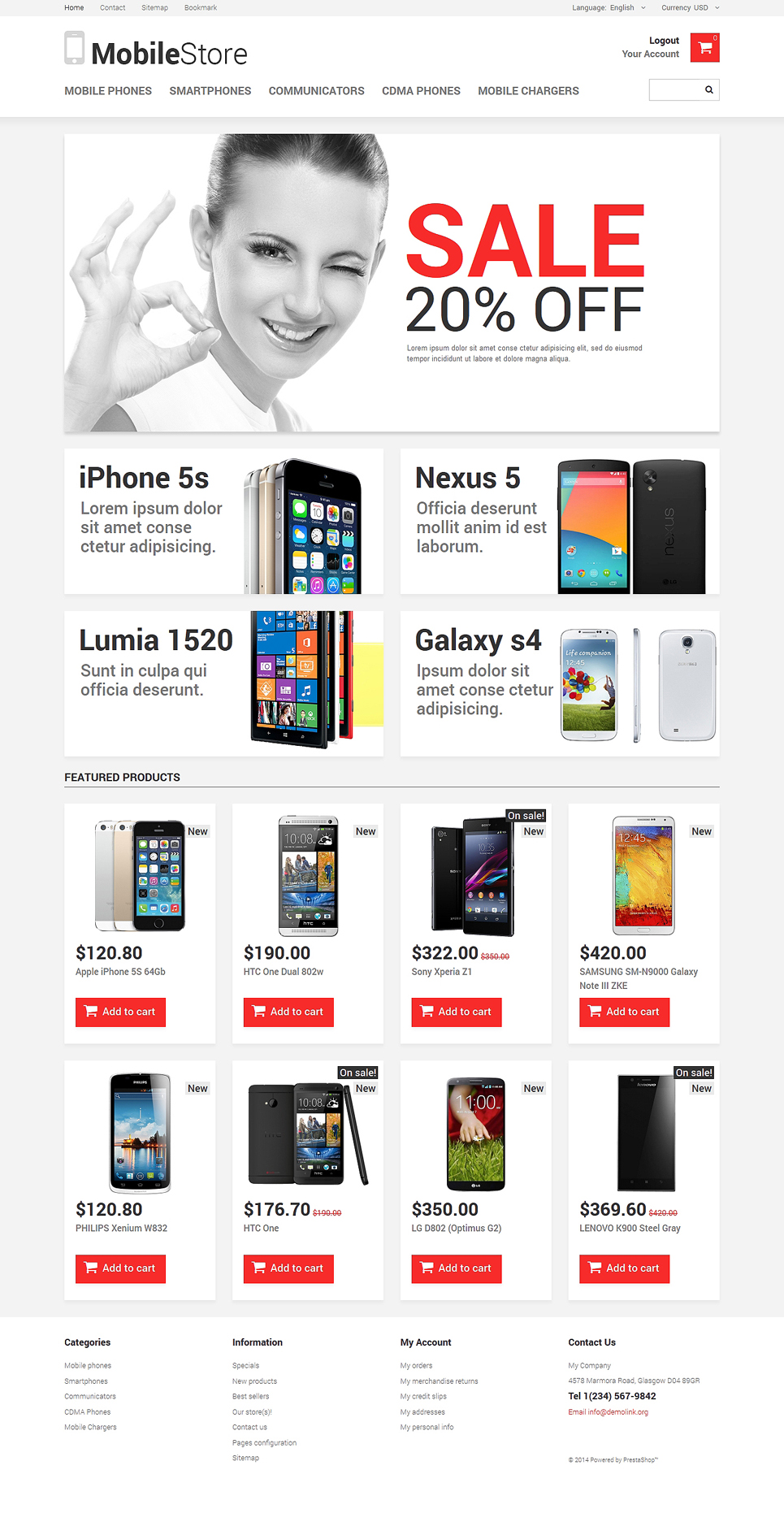 Mobile Phones (ecommerce theme for PrestaShop) Item Picture