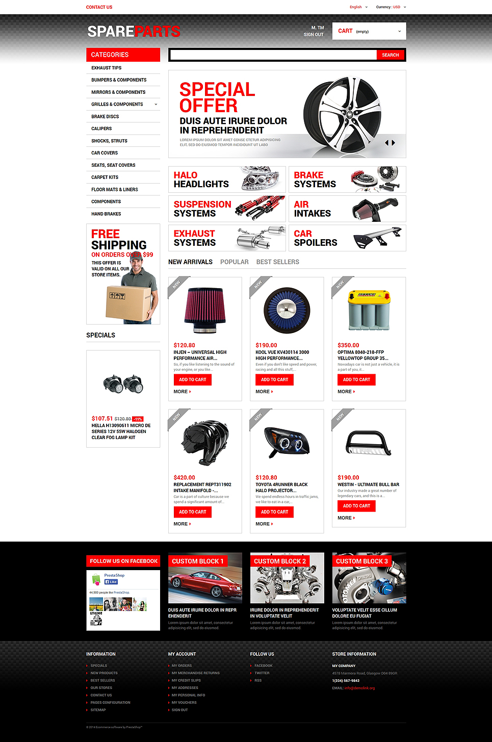 Motor Spares (PrestaShop theme) Item Picture