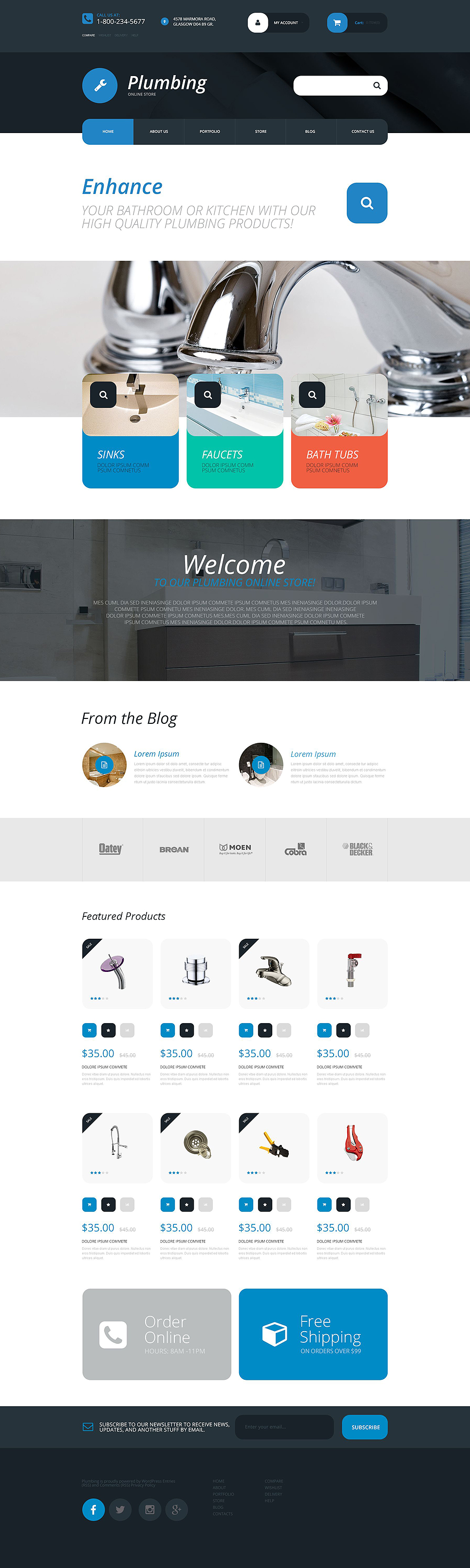 Plumbing Supplies Store (template for WooCommerce) Item Picture